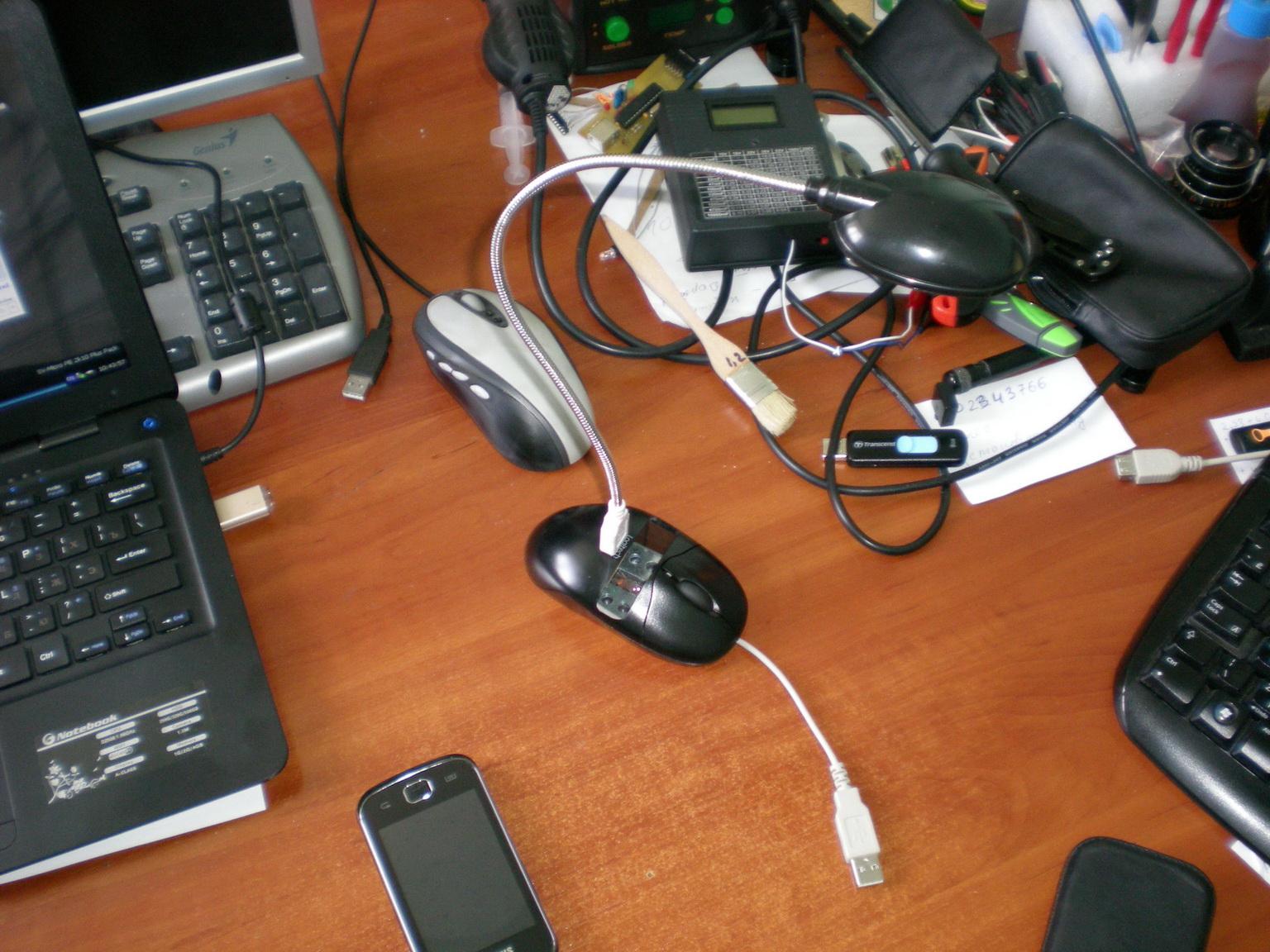 Как из мышки сделать usb мышку
