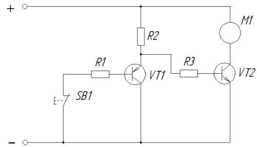 Так как транзистор VT1