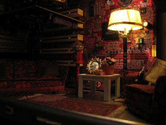миниатюрная комната в корпусе компьютера. small-room-inside-pc-01